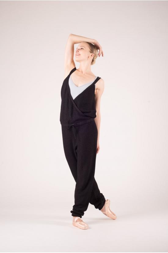 combinaison de danse tricot repetto noir mademoiselle danse. Black Bedroom Furniture Sets. Home Design Ideas