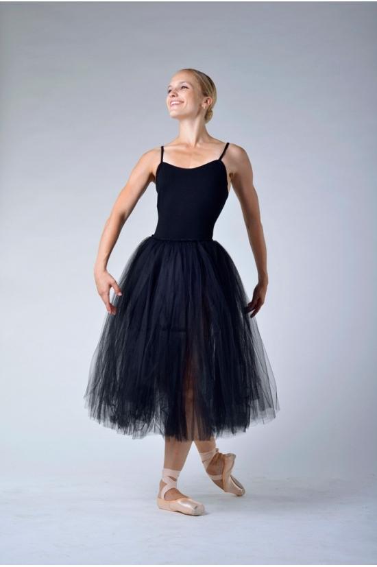 jupon romantique repetto noir d0534 mademoiselle danse. Black Bedroom Furniture Sets. Home Design Ideas