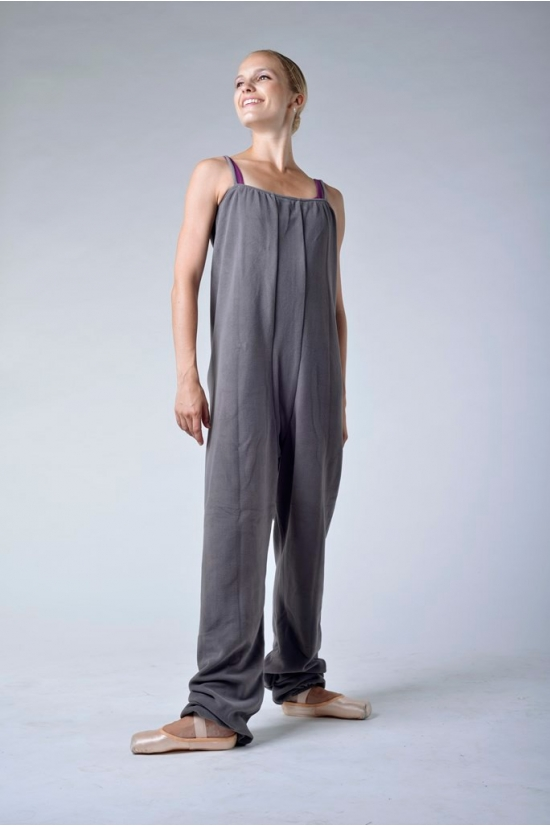 Repetto graphite grey fleece camisole unitard D108