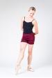 Wear Moi Tiara maroon knitted shorts