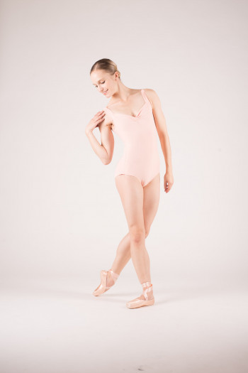 Wear Moi Faustine peach leotard