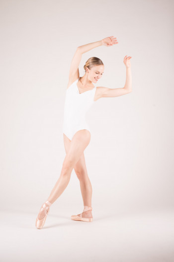 Wear Moi Faustine white leotard