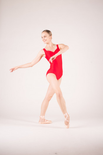 Wear Moi Faustine red leotard