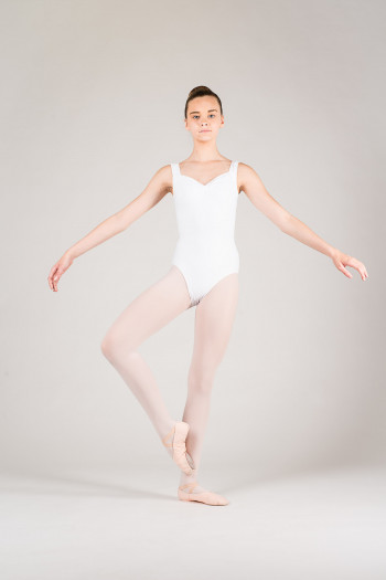 Wear Moi Faustine children white leotard