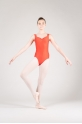 Wear Moi Faustine children tangerine leotard