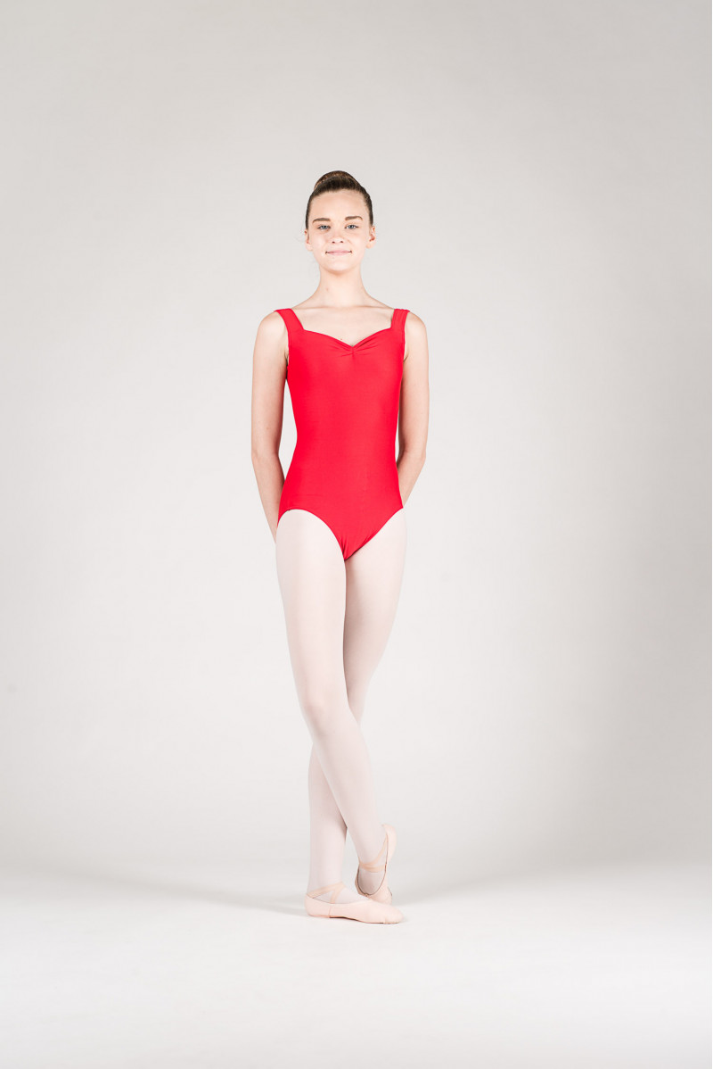 Wear Moi Faustine children red leotard