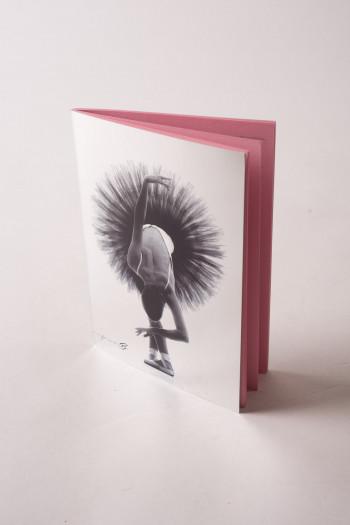 Cahier danseuse argent