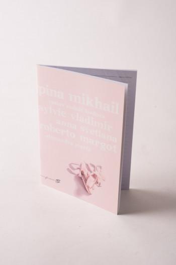Cahier danseuse rose