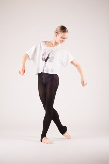 T shirt danse court blanc