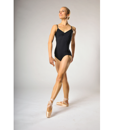 Capezio transition camisole leotard pinch front black