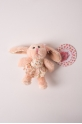Rabbit ballerina key ring