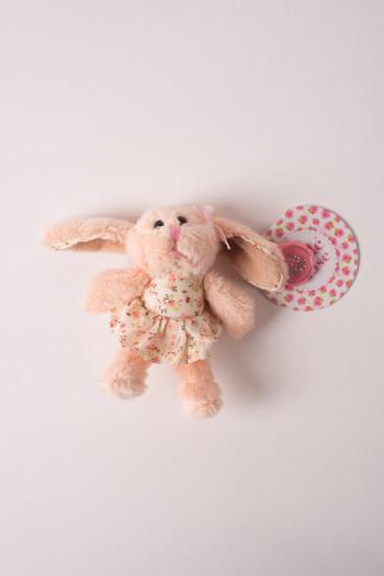 Rabbit ballerina key ring