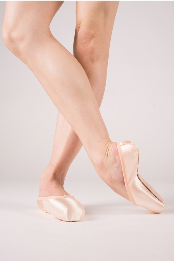 Pink satin Freed studios pointe shoes
