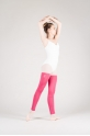 Wear Moi rose knitted full leg warmers