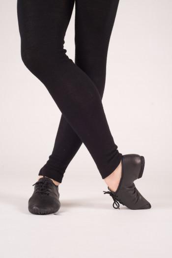 Chaussures de jazz cuir à lacets Dansez-Vous Leo noir
