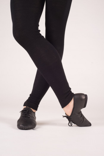 Dansez-vous leather black jazz shoes