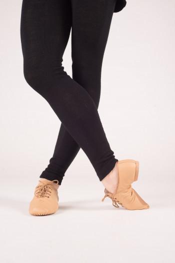 Chaussures de jazz cuir à lacets Dansez-Vous Leo tan