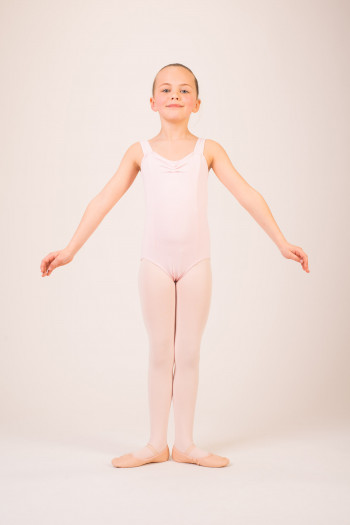 Capezio TC0001C Tactel pink leotard