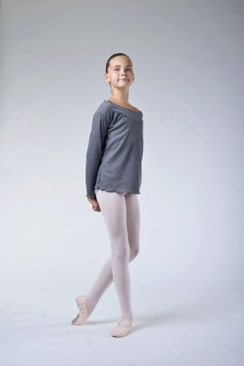 Ballet Rosa Ruby grey warm-up T-shirt
