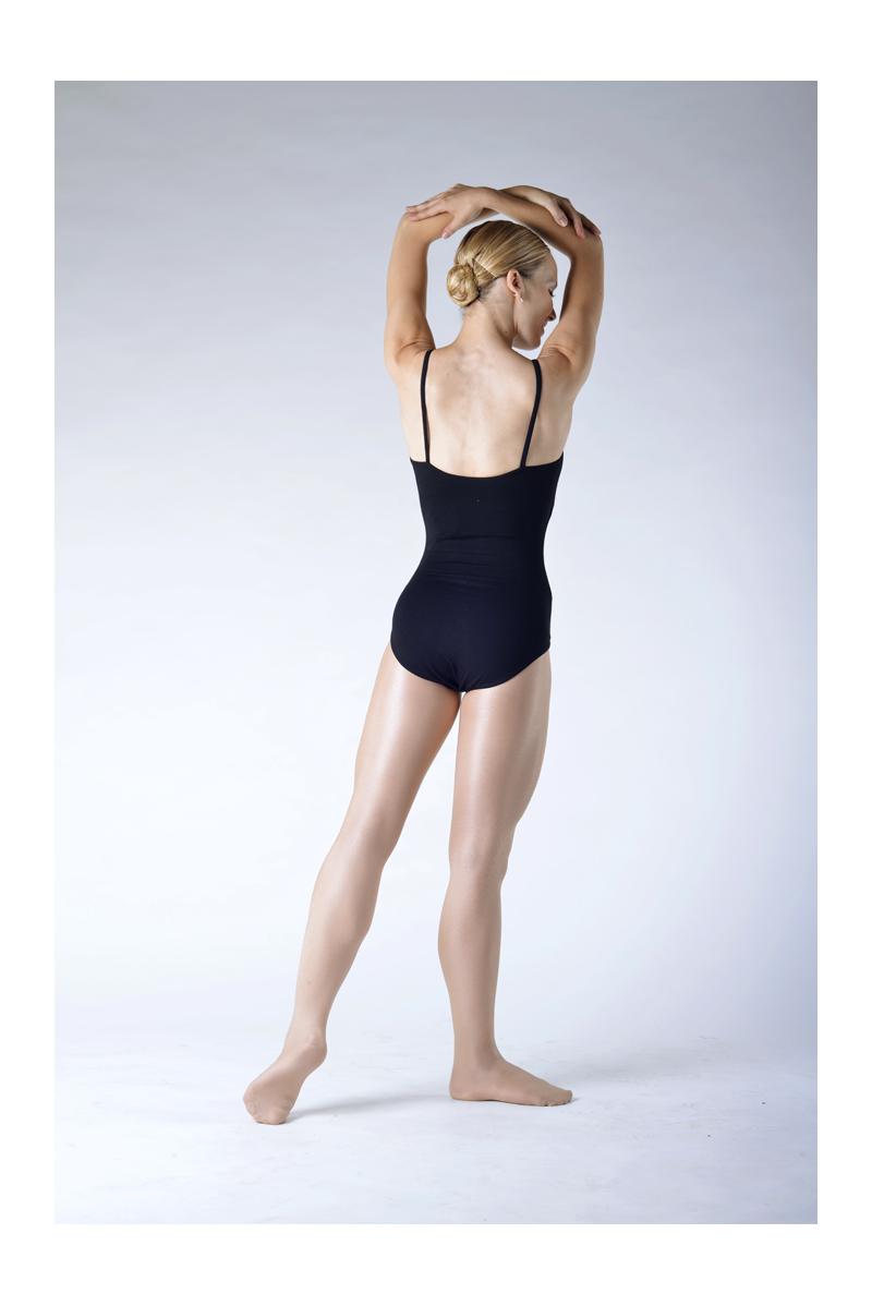 Capezio flesh shiny ballet tights with feet