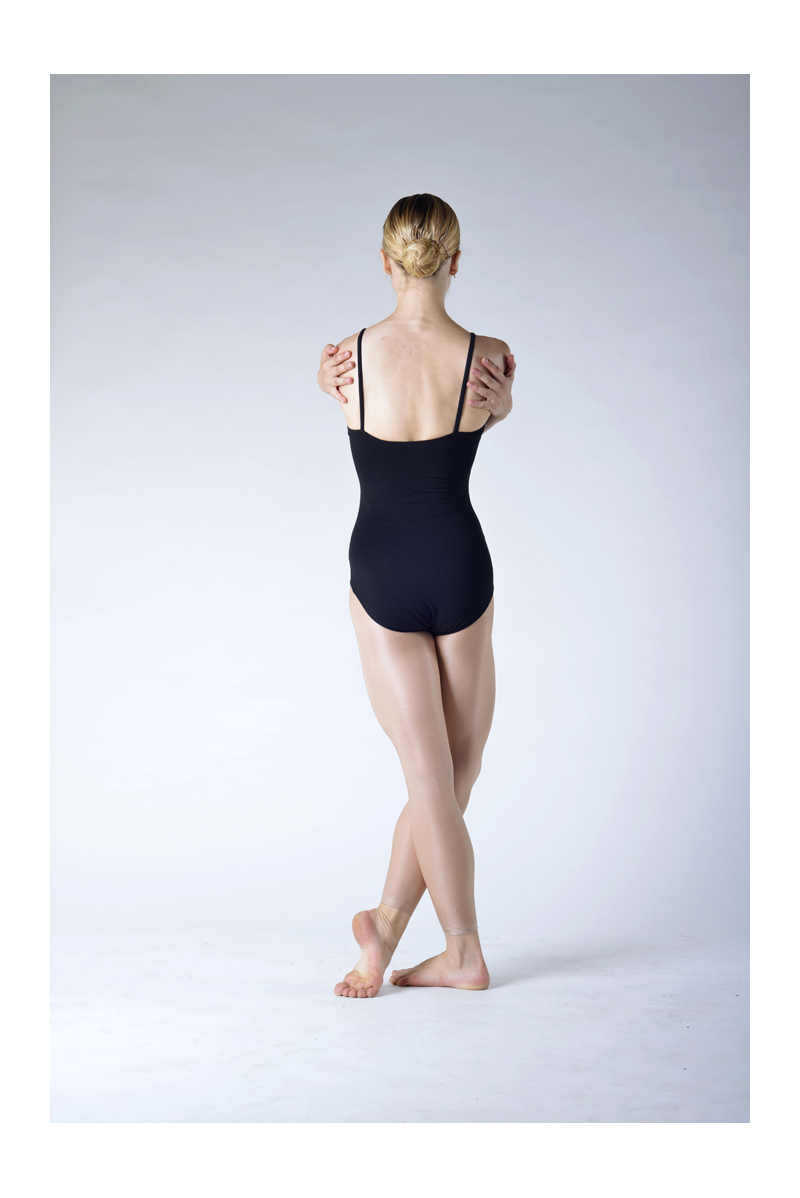 Capezio flesh shiny footless dance tights
