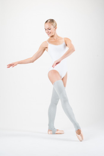Capezio light grey legwarmers