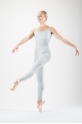 Capezio light grey warm up unitard