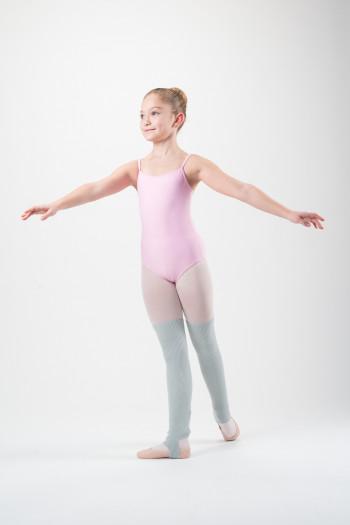 Jambières de danse enfants gris clair