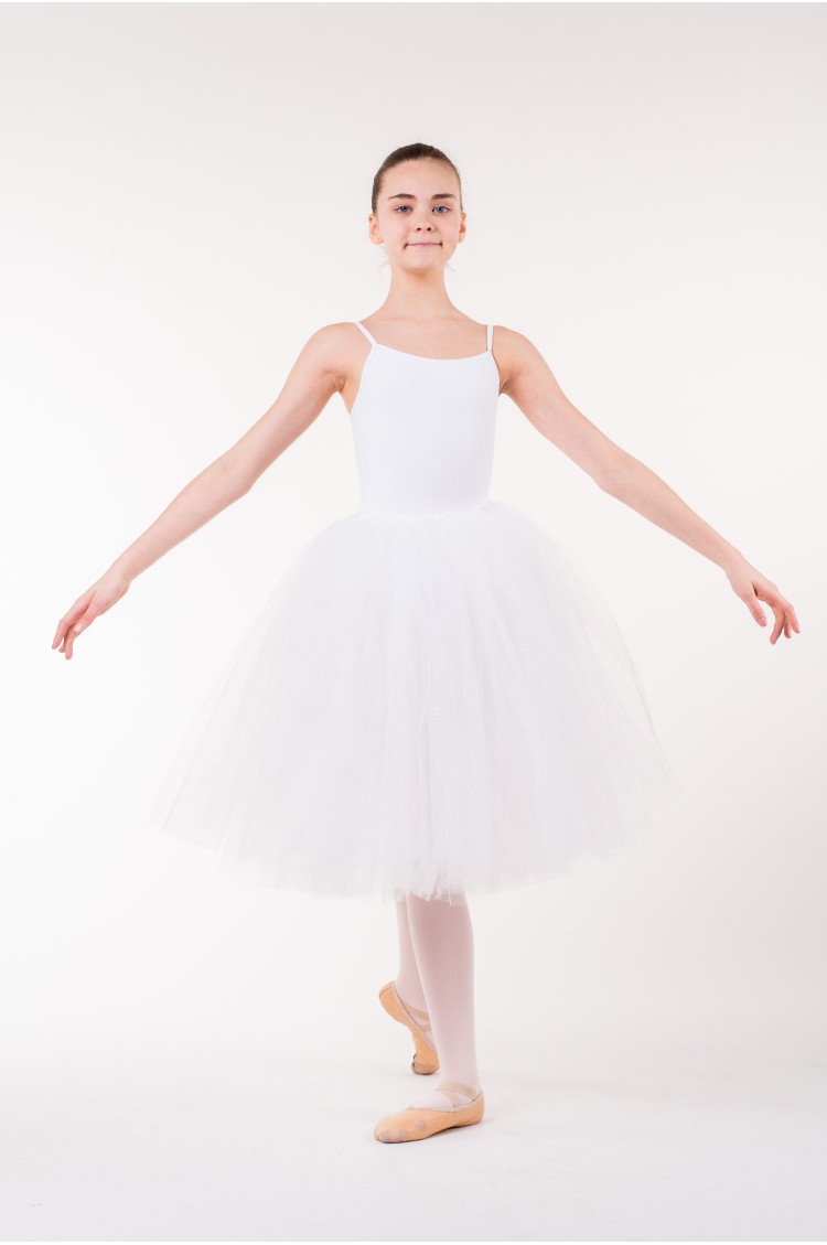 Jupe tutu long repetto enfant blanc