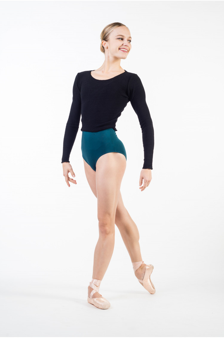 Temps Danse Trium black cropped sweat
