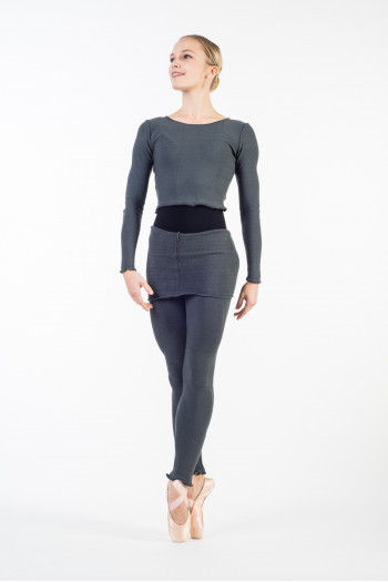 Temps Danse Triori grey warm up tights