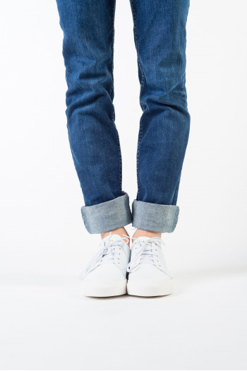 Sneakeres repetto en cuir blanches bi matières