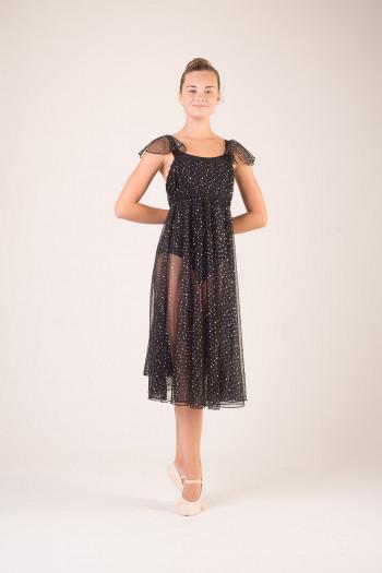Robe costume de danse longue à sequin femme