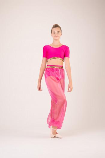 Pantalon fluide ceinture sequin