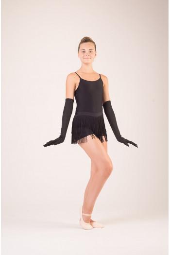 Gants longs noirs costume danse