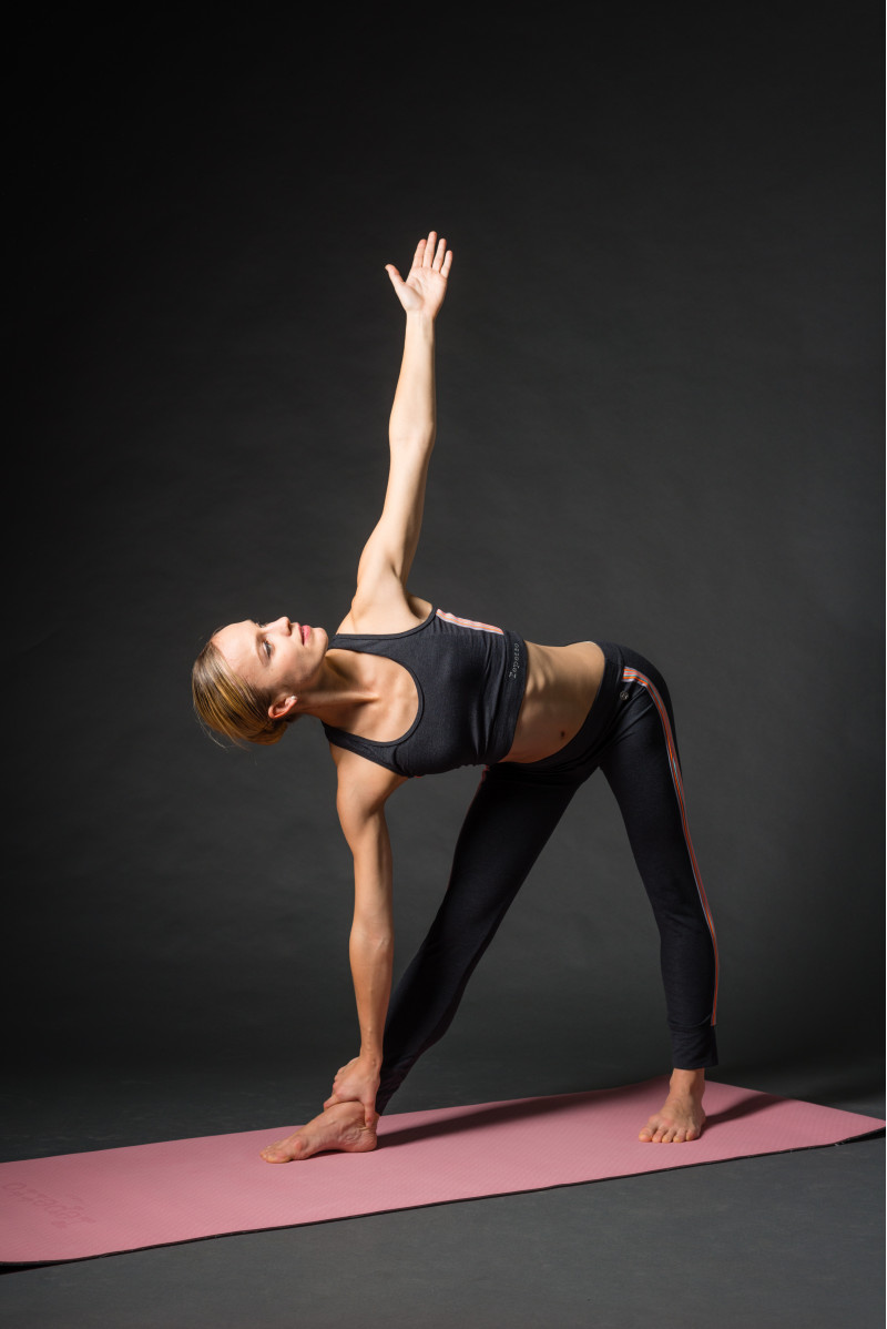 Tapis de yoga Repetto gris et rose A0092