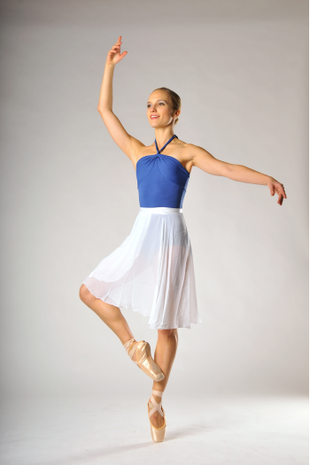 Jupettes de danse longue blanche