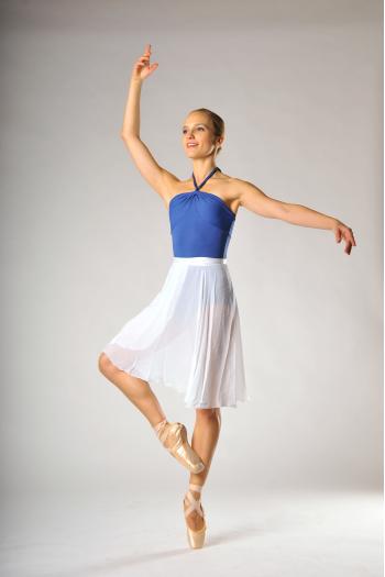 Sansha MDA long white skirt