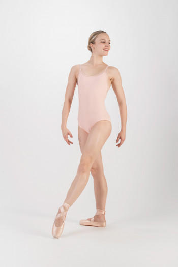 Wear Moi Flora peach leotard