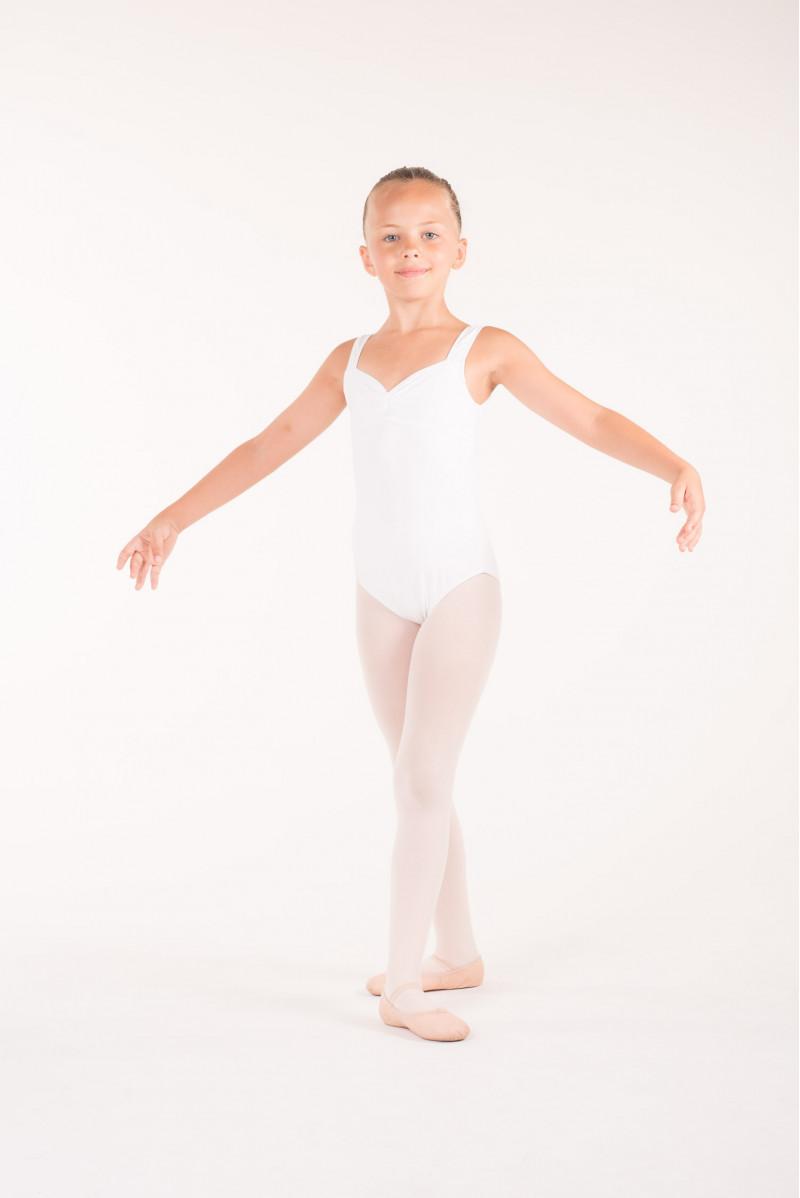 Justaucorps danse fille wear moi galate blanc