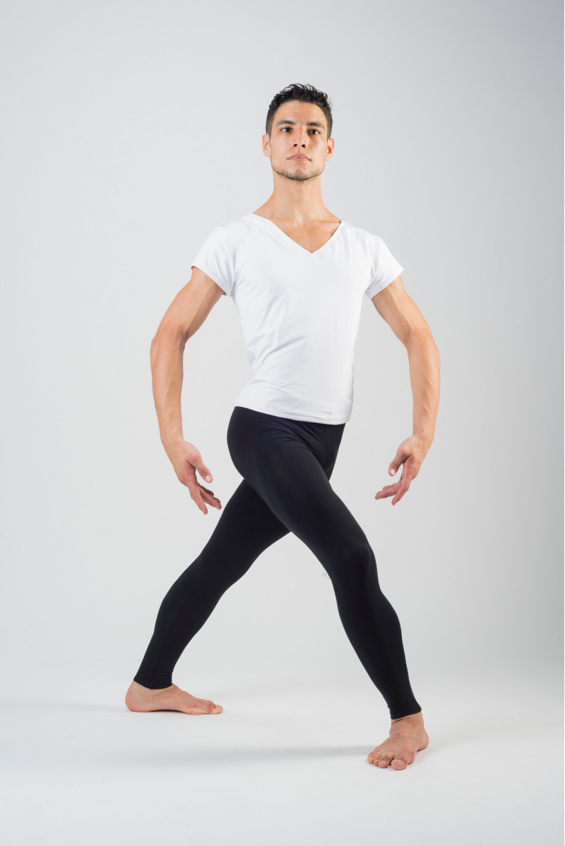 Wear Moi Hamada footless black tights for men