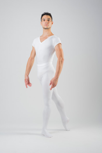 Wear Moi Solo white footed men tights