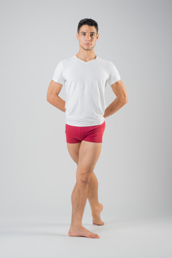 Ballet Rosa Elia cotton burgundy shorts