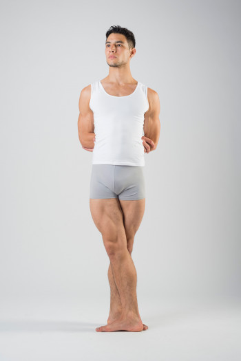 Ballet Rosa Elia cotton Acier shorts