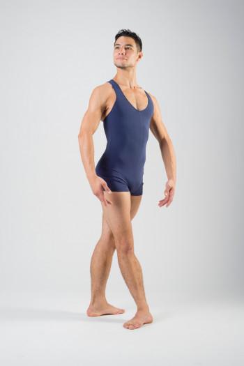 Ballet Rosa navy short unitard Patrick