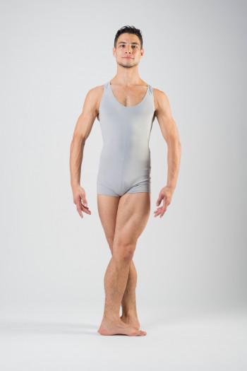 Ballet Rosa acier short unitard Patrick