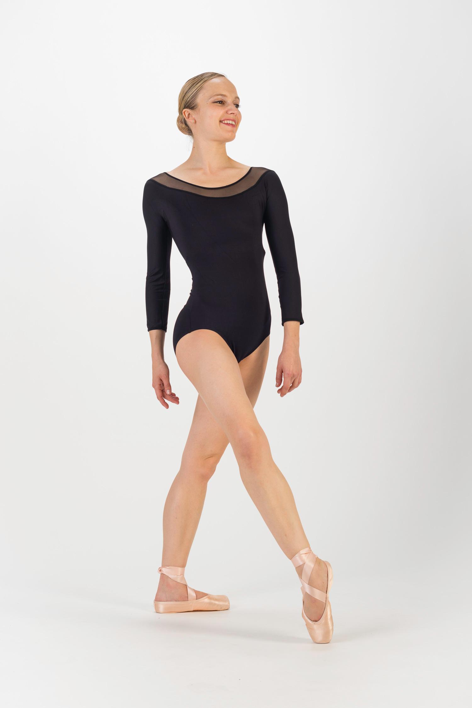 b7ef92e69ce6 Ballet leotards long sleeved for women - Mademoiselle danse