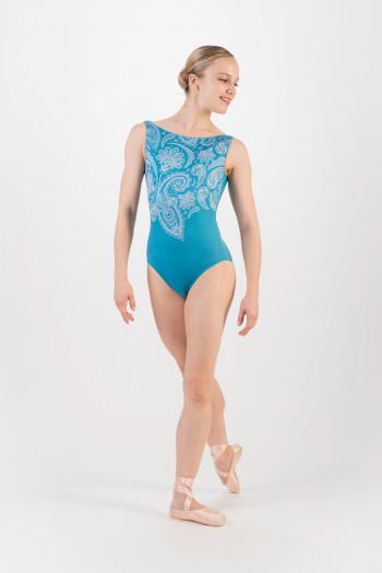 Justaucorps Ballet Rosa Salome bleu niagara