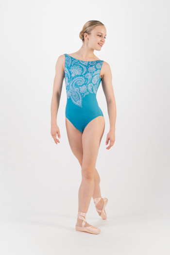 Justaucorps Ballet Rosa Salome bleu turquoise