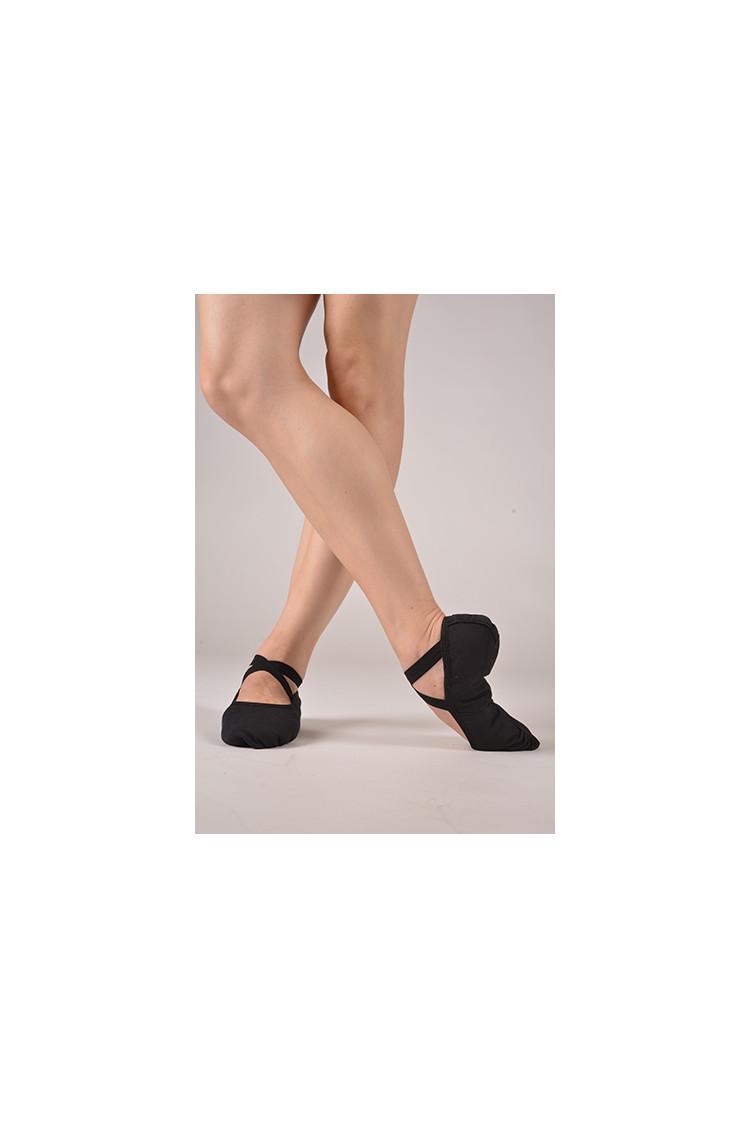 Dttrol black ballet soft shoes